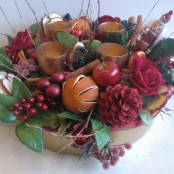 Bespoke Christmas table centre